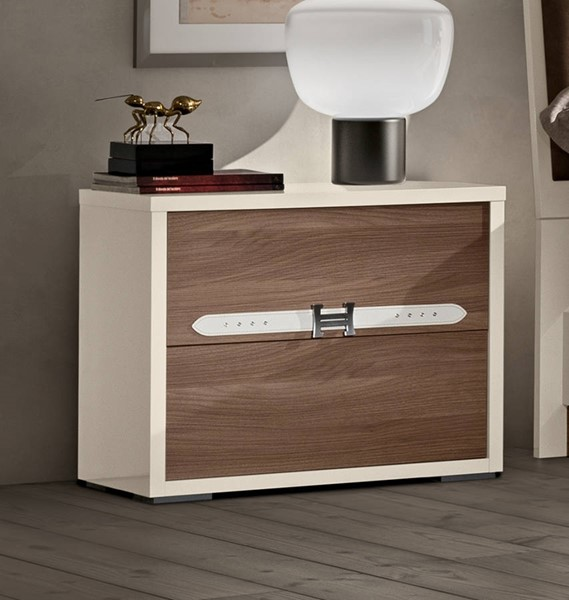 ESF Status Italy Evolution Beige Brown 2 Drawers Night Stand ESF-i21689