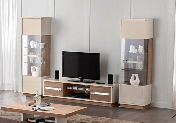 ESF Status Italy Ivory Brown Entertainment Center ESF-p8232