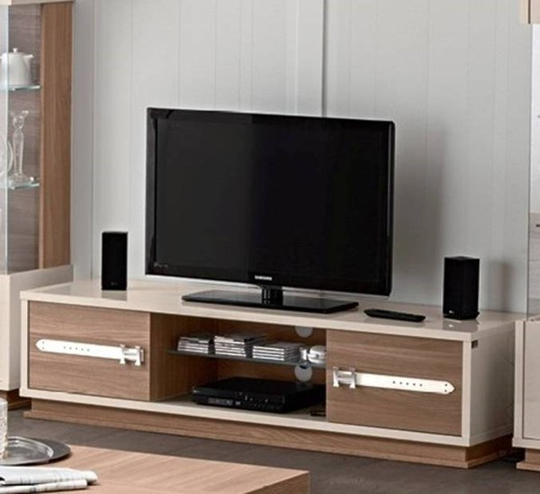 ESF Status Italy Ivory Brown LCD TV Stand with No Logo ESF-i17493