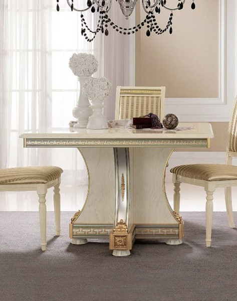 ESF Arredoclassic Italy Liberty Ivory Square 1 Extension Dining Table ESF-i5315