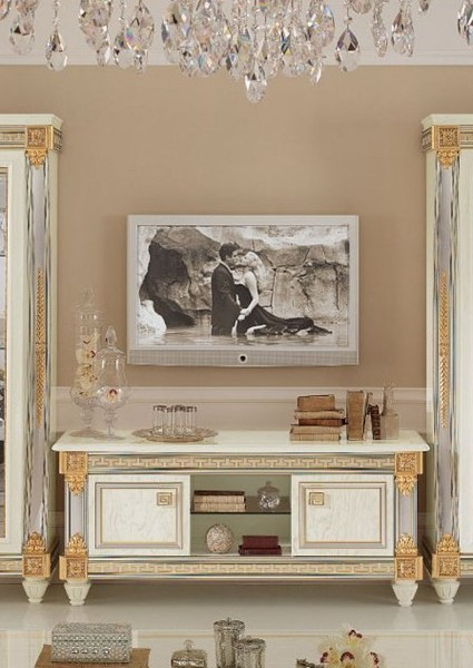 ESF Arredoclassic Italy Liberty Ivory TV Cabinet ESF-i5307