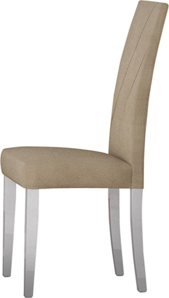 2 ESF Status Italy Lisa Beige White Chairs ESF-i18609