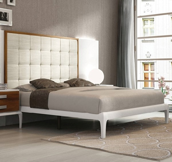 ESF Fenicia Spain Malaga White Brown Queen Bed ESF-i17828