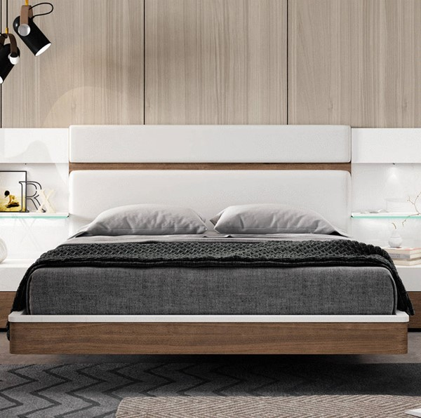ESF Garcia Sabate Spain Mar Walnut Beds with Slat Frame ESF-i2232-BED-VAR