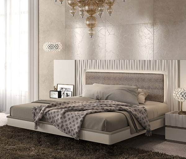 ESF Garcia Sabate Spain Marina Matt Lacquer Beds with Slat Frame ESF-i1775-BED-VAR