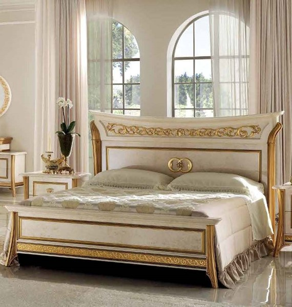 ESF Arredoclassic Italy Melodia Ivory Queen Bed ESF-i11508