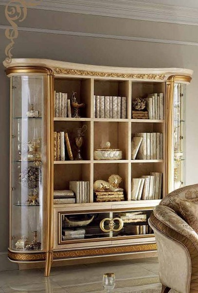 ESF Arredoclassic Italy Melodia Ivory Bookcase ESF-i11533
