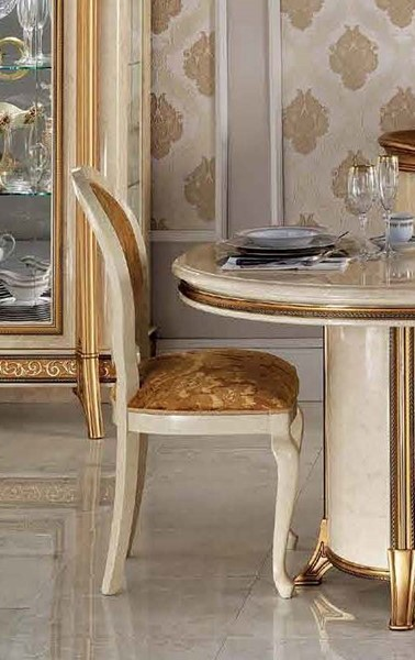 4 ESF Arredoclassic Italy Melodia Ivory Side Chairs ESF-i11521