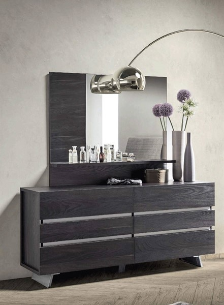 ESF Status Italy New Star Oak Double Dresser and Mirror ESF-i2171-DRMR