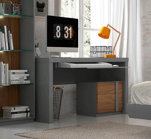 ESF Fenicia Spain Palma Walnut Grey Desk ESF-i22168