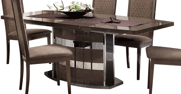 ESF Camelgroup Italy Platinum Shiny 18 Inch Extension Dining Table ESF-i17701