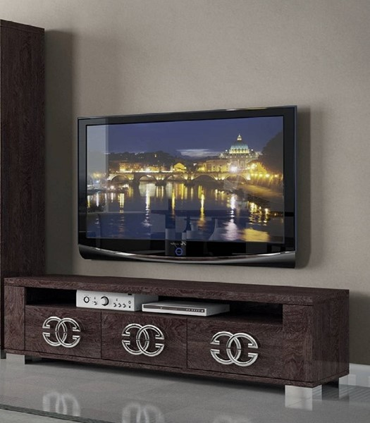 ESF Status Italy Walnut 3 Door TV Stand ESF-i11192