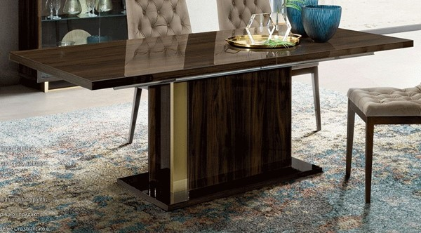 ESF Camelgroup Italy Walnut Gold Volare Extension Dining Table ESF-i26309