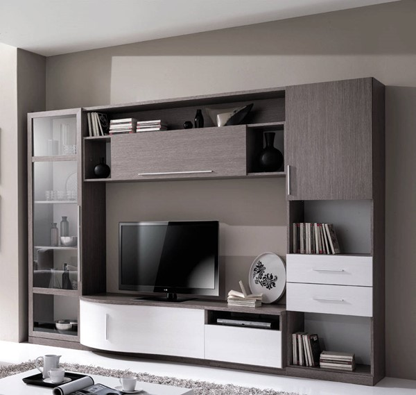 ESF Mcs Italy Wave Grey White Wall Unit ESF-i21885