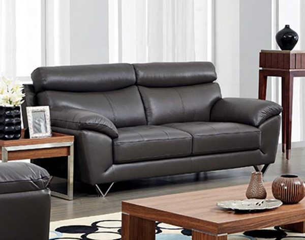 ESF SVN Modern Living 8049 Grey Leather Sofa ESF-i10854
