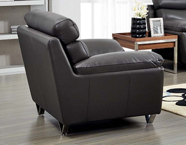 ESF SVN Modern Living 8049 Grey Leather Chair ESF-i10856