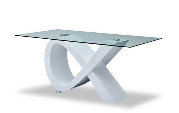 ESF Extravaganza 989 High Gloss White Dining Table ESF-i11026