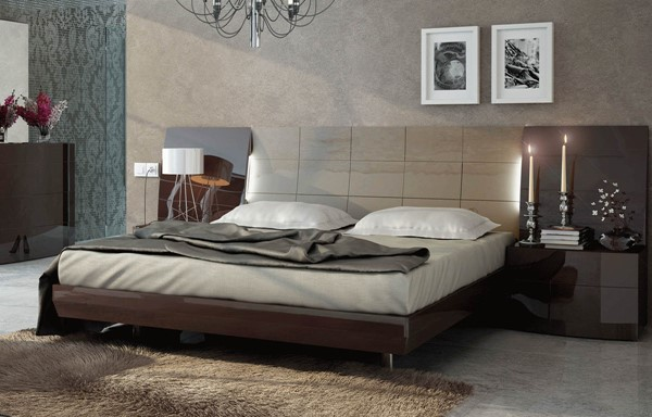 ESF Fenicia Spain Barcelona Brown Beige Beds with Slate Frame ESF-i11295-BEDS-VAR