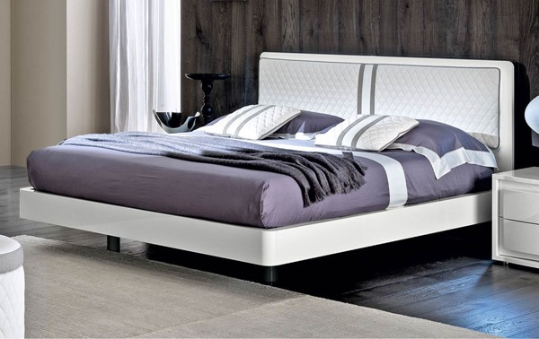 ESF Camelgroup Italy Dama Binaca White Gloss Beds with Slat Frame ESF-i16977-BEDS-VAR