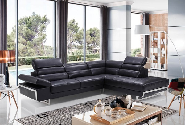 ESF WCH Modern Living 2347 Black Right Facing Sectional ESF-i17277