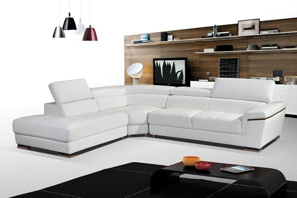ESF WCH Modern Living 2383 White Gold Left Facing Sectional ESF-i17278