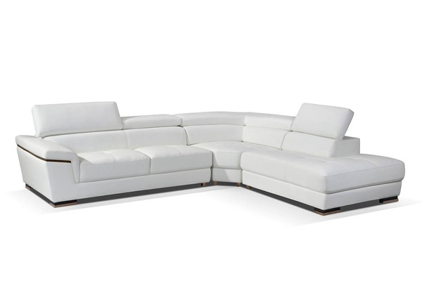 ESF WCH Modern Living 2383 White Gold Right Facing Sectional ESF-i17279