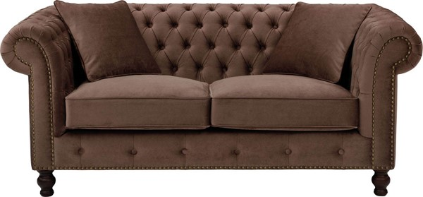 ESF Extravaganza 108 Brown Tufted Back Loveseat ESF-i17474