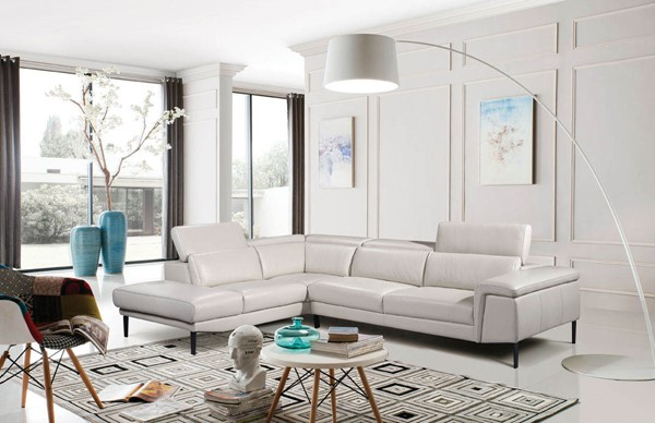 ESF Extravaganza 1511 Off White Left Facing Sectional ESF-i17496