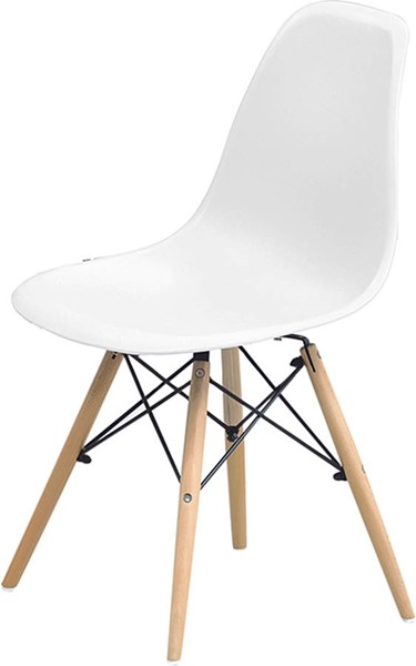 2 ESF Extravaganza 971 White Dining Chairs ESF-i17518