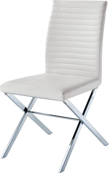 2 ESF Extravaganza 85 White Leather Dining Chairs ESF-i18625