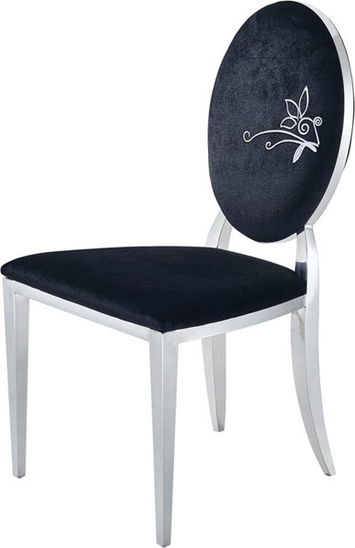 2 ESF Extravaganza 110 Black Dining Chairs ESF-i17646
