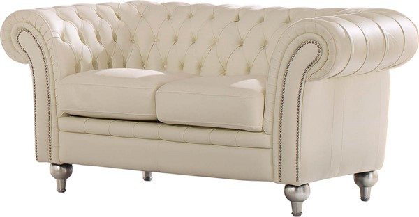 ESF SWH Classic Living 287 Ivory Leather 2 Seat Sofa ESF-i17684