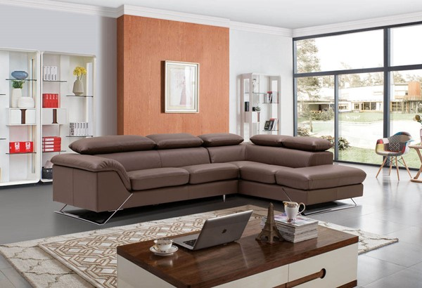ESF European Caracas Full Leather Right Facing Sectional ESF-i17690