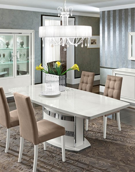 ESF Camelgroup Italy Dama Bianca White Gloss Dining Table ESF-i17845