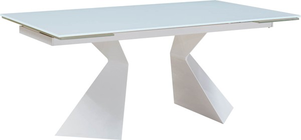 ESF Extravaganza 992 White Glass Dining Table ESF-i17848