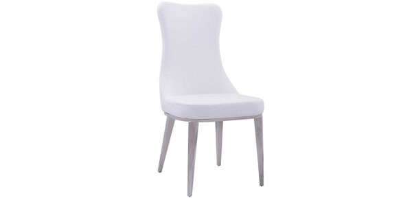 2 ESF Extravaganza 6138 White Dining Chairs ESF-i17849