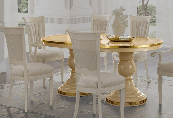 ESF Camelgroup Italy Aida Ivory Gold Dining Table ESF-i18333