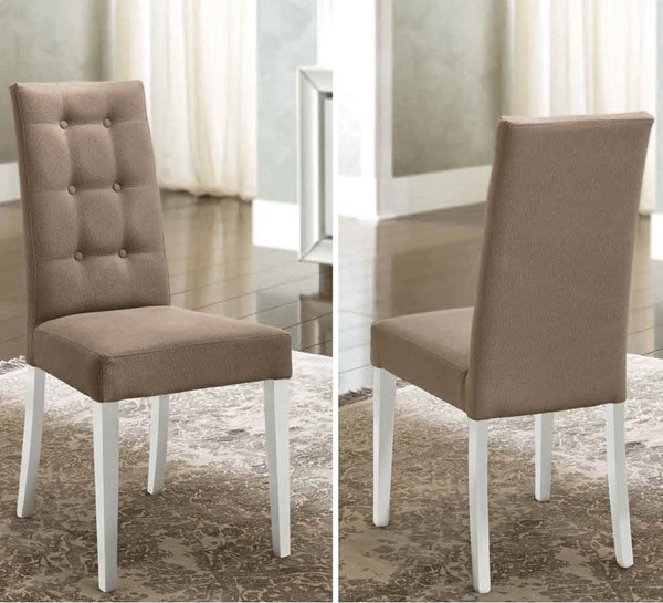 2 ESF Camelgroup Italy Dama Bianca White Gloss Side Chairs ESF-i18601