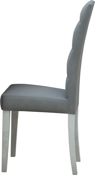 2 ESF Status Italy Elegance White Grey Dining Chairs ESF-i2051