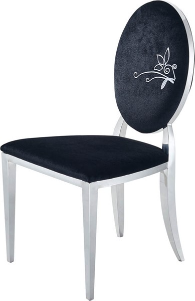 2 ESF Extravaganza 110 Black Fabric Dining Chairs ESF-i18626