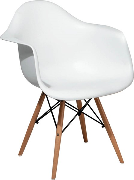 ESF Extravaganza 982 White Wood Dining Chair ESF-i18632