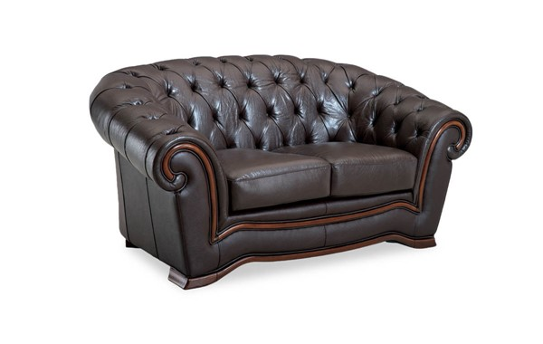 ESF SWH Classic Living 262 Brown Leather Loveseat ESF-i2029