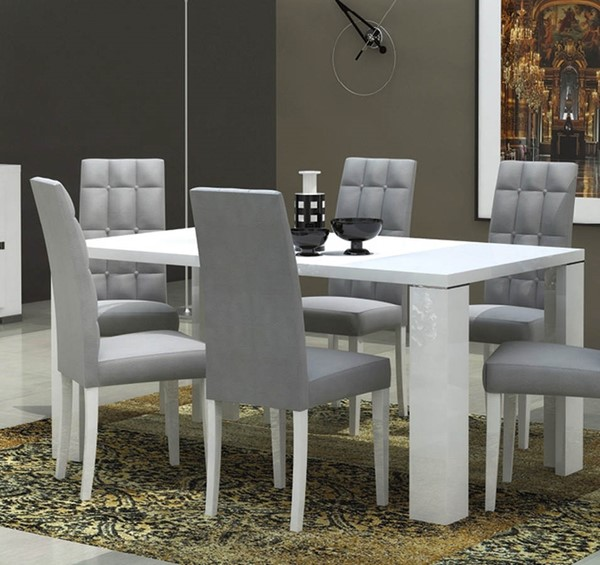 ESF Status Italy Elegance Gloss White Dining Table ESF-i2050