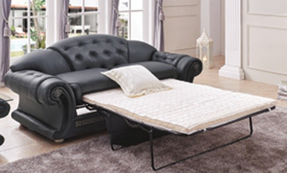 ESF SWH Classic Living Apolo Black Leather Sofa Bed