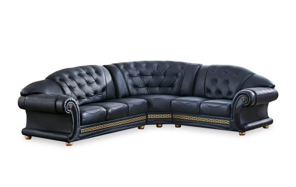 ESF SWH Classic Living Apolo Black Right Facing Sectional ESF-i20883