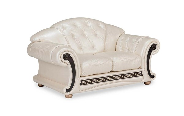 ESF Extravaganza Apolo Pearl Leather Loveseat ESF-i21487