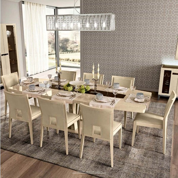 9pc Dining Room Set: ESF Camelgroup Italy Ambra 9pc Dining Room Set