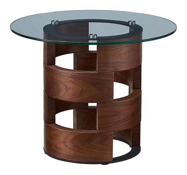 ESF Extravaganza 1601 Wlanut Glass End Table ESF-i21840