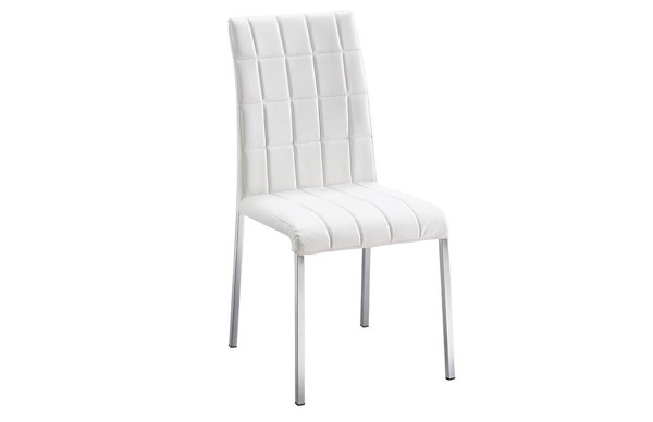 4 ESF Extravaganza 3450 White Leather Dining Chairs ESF-i21869
