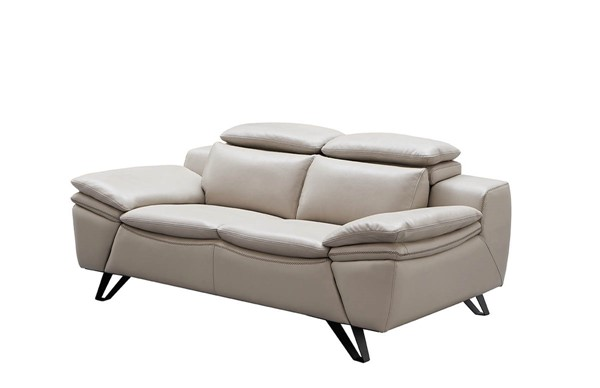 ESF Extravaganza 973 Light Grey Leather Loveseat ESF-i21888